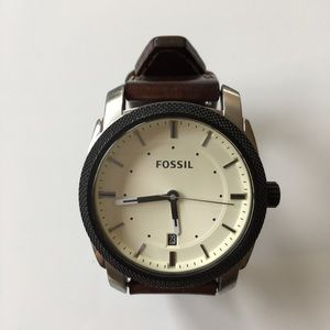 Beautiful Fossil Watch Brown Genuine Leather